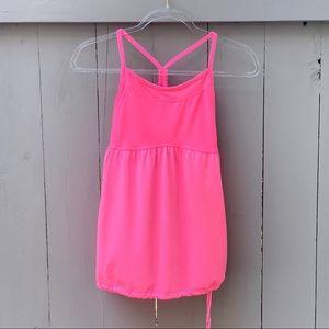 Champion/Tank Top Neon Pink w/Shelf Bra/Y Strap
